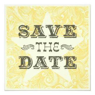 Western Save the Date (doppelseitig) Quadratische 13,3 Cm Einladungskarte