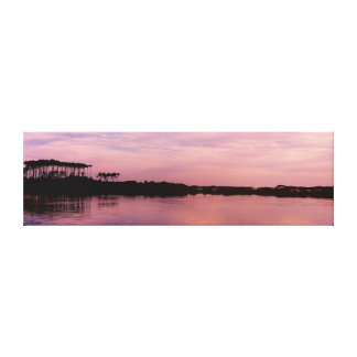 Western See in Rosa eingewickelter Leinwanddruck