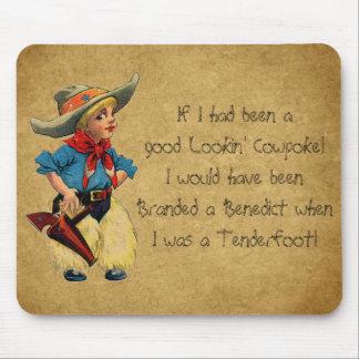 Western-Vintager Spaß Lil Cowpoke-Cowboy Mousepad