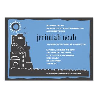Western-Wand-Israel-Bar-Schläger Mitzvah Einladung
