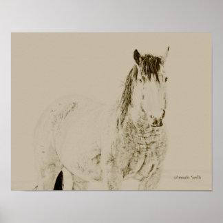 Westernkunst-Pferdedruck, retro, Vintages Geschenk Poster