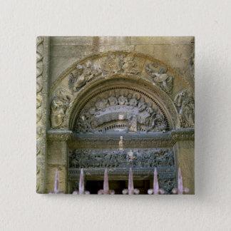 Westernöffnung Tympanum, der die Heirat an Quadratischer Button 5,1 Cm