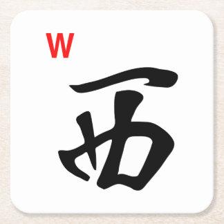 Westfliesen-Untersetzer Milliamperestunde Jongg Rechteckiger Pappuntersetzer