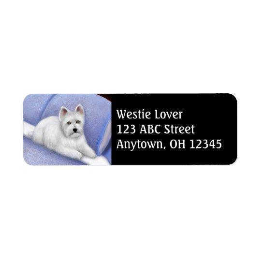 Westhochland-Terrier-Adressen-Etikett Rücksendeetiketten