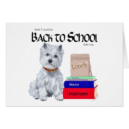 Westhochland weißes Terrier zurück zu Schule Karte