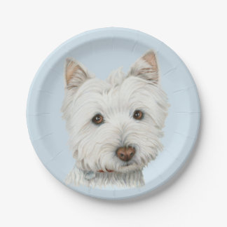Westie Hundekunst-Pappteller Pappteller 17,8 Cm