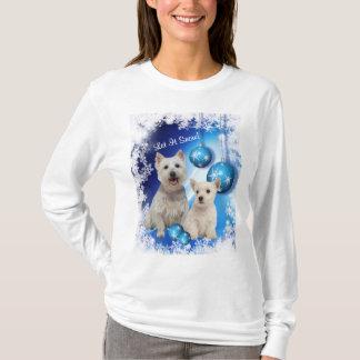 Westie ließ es schneien Feiertags-Gruß T-Shirt