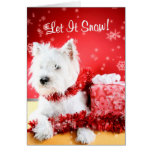 Westie ließ es schneien, kundengerechtes #3 grüßen grußkarte
