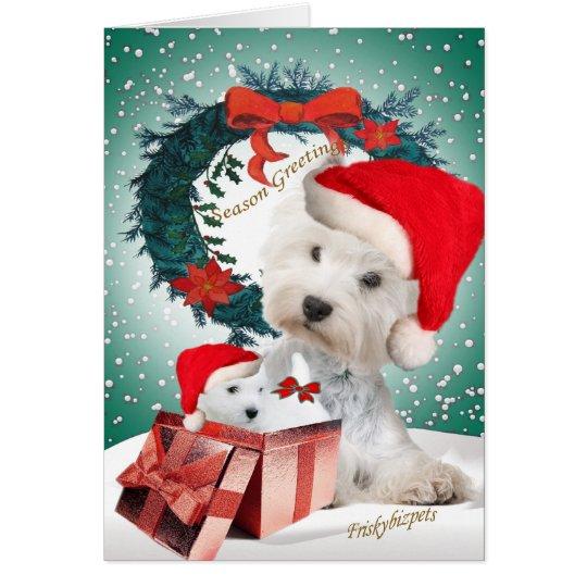 Westie Weihnachtsgeschenkkarten Karte
