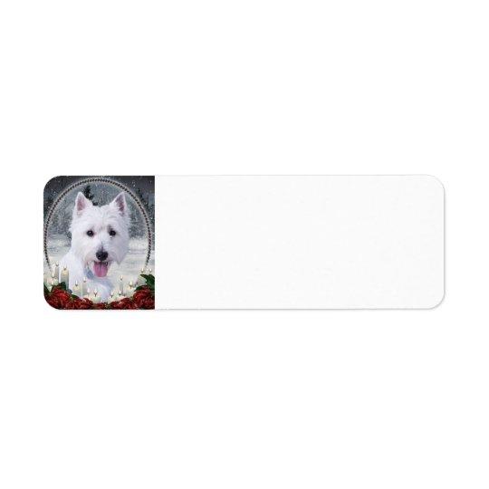 Westie WeihnachtsRücksendeadressen-Aufkleber Rücksendeetiketten