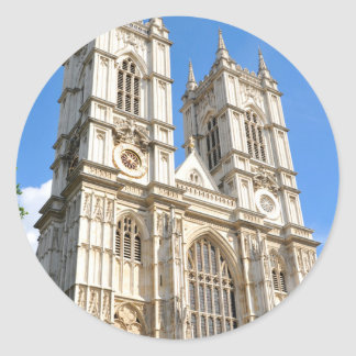 Westminster Abbey in London, Großbritannien Runder Aufkleber