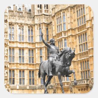 Westminster Abbey in London Quadratischer Aufkleber