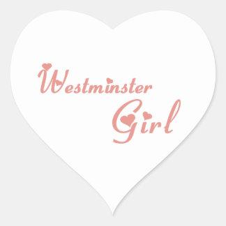 Westminster-Mädchen Herz-Aufkleber