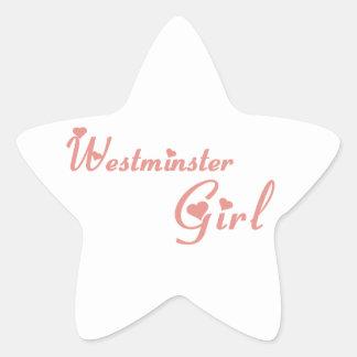 Westminster-Mädchen Stern-Aufkleber