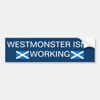 Westminster-Monster Indyref Autoaufkleber