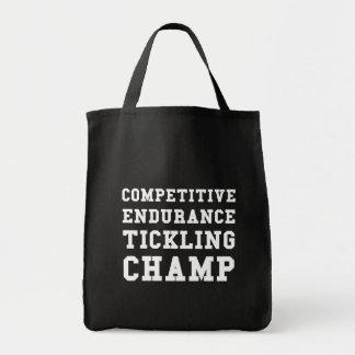 Wettbewerbsfähige Ausdauer, die Champion Tickling Tragetasche