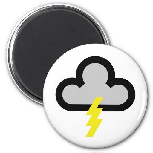 Wetter blitz blitz symbol magnets