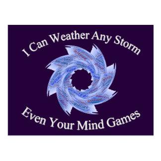 Wetter Postkarte