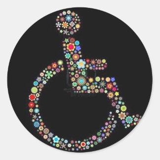 wheelchair_funky_zazzle.jpeg sticker rond