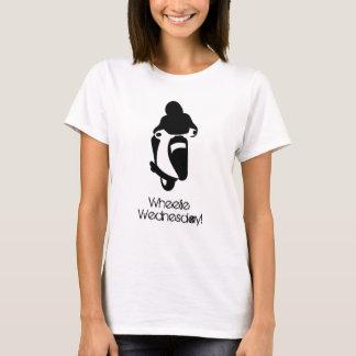 Wheelie-Mittwoch-Schwarzes T-Shirt