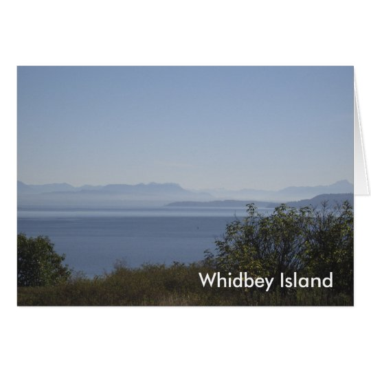 Whidbey Insel-Landschaft Grußkarte