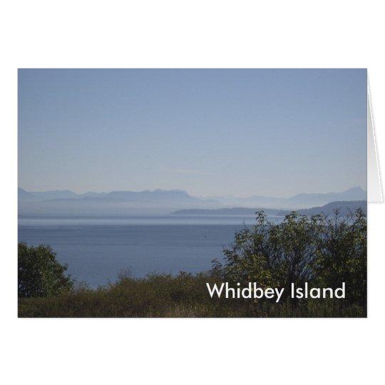 Whidbey Insel-Landschaft Karte