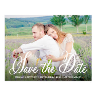Whimsy Foto-Save the Date Mitteilungs-Postkarte Postkarte