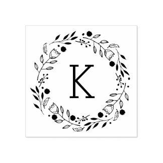 Whimsy Wreath-Monogramm-Gummi-Briefmarke Gummistempel