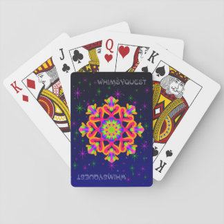 WhimsyQuest Kaleidoskop-Spielkarte-Orange 2 Spielkarten