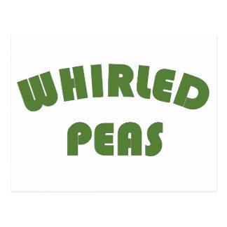 Whirled Erbsen Postkarte