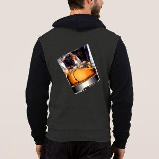 Whisky auf dem Felsen-ZipHoodie Hoodie