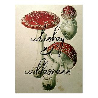 Whisky u. Wildnis-Pilz Postkarte