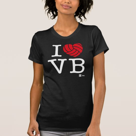 Whit/I love Volleyball T-Shirt