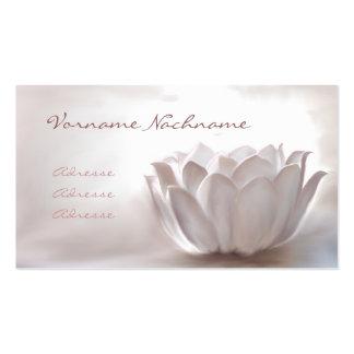 White Lotus Cartes De Visite Personnelles