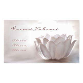 White Lotus Carte De Visite Standard
