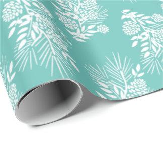 White Pine-Ast-Kegel und Beeren Ihre Farbe Geschenkpapier
