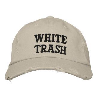 White Trash gestickter Hut