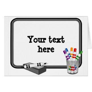 Whiteboard, fertigen Ihren Text besonders an Karte