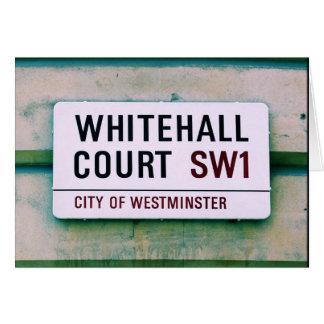 Whitehall-Gericht - die City of Westminster Karte