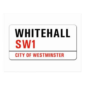 Whitehall, London-Straßenschild Postkarte