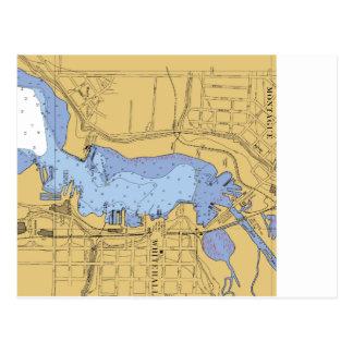 Whitehall, MI-Seehafen-Diagramm Postkarte
