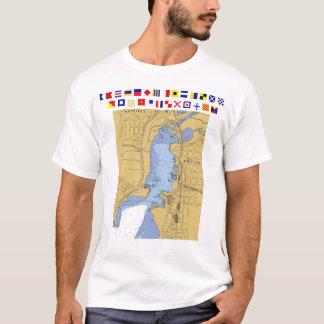 Whitehall, MI-Seehafen-Diagramm T-Shirt