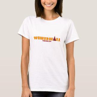 WHITEHALL, Michigan - mit roter Segelbootikone T-Shirt
