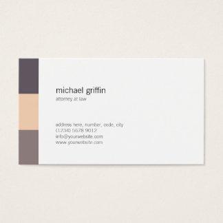 Whiter Brown minimale Schar einfacher Professional Visitenkarte
