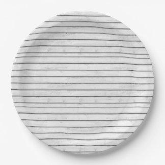 WhiteWoodSlats | einwickelnPapper nahtloser | Pappteller