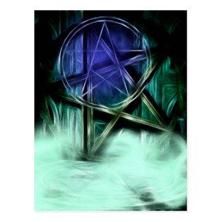 Wiccan Nebel-Fraktal-Manipulation Postkarte