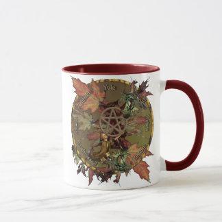 Wiccan Rad mit der Pentagramm-Tasse Tasse