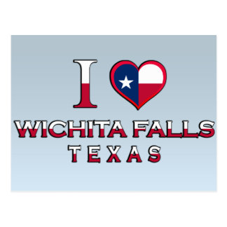 Wichita-Fälle, Texas Postkarte