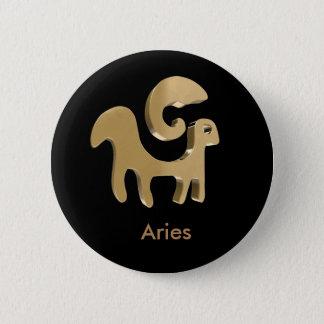 Widder, Ariete Runder Button 5,1 Cm