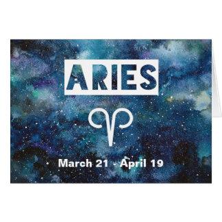 Widder-Astrologie-blauer Karte